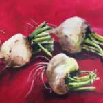 White Beets – 11 x 15 for Etsy 300 LB hot pressed Arches paper